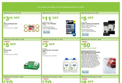 Costco (QC) Weekly Savings November 4 to 10