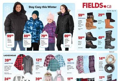 Fields.ca Flyer October 30 to November 10