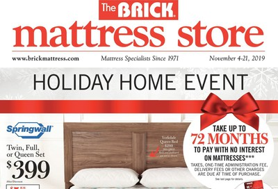 The Brick Mattress Store Flyer November 4 to 21