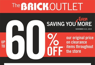 The Brick Outlet Flyer November 4 to 21