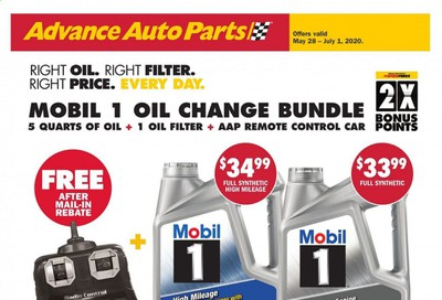 Advance Auto Parts Weekly Ad & Flyer May 28 to June 1