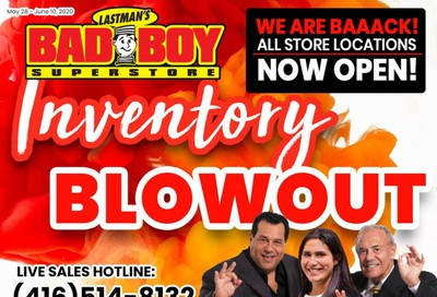 Lastman's Bad Boy Superstore Flyer May 28 to June 16