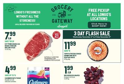 Longo's Grocery Gateway Flyer November 6 to 12