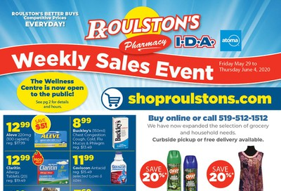 Roulston's Pharmacy Flyer May 29 to June 4