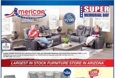 American Furniture Warehouse Weekly Ad & Flyer May 31 to June 6