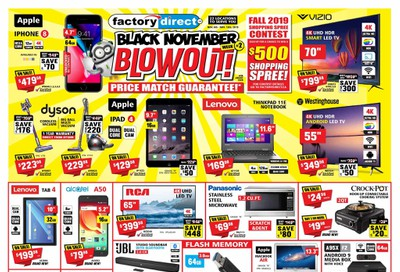 Factory Direct Flyer November 6 to 13