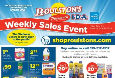 Roulston's Pharmacy Flyer June 5 to 11