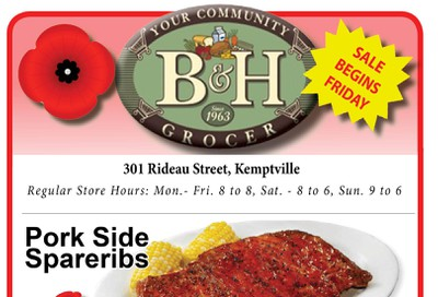 B&H Your Community Grocer Flyer November 8 to 14