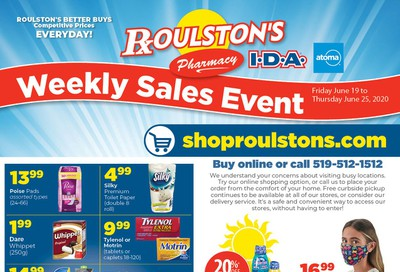 Roulston's Pharmacy Flyer June 19 to 25
