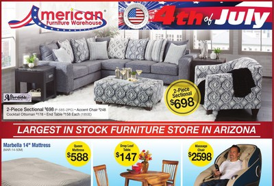 American Furniture Warehouse Weekly Ad & Flyer June 17 to July 4