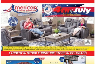 American Furniture Warehouse Weekly Ad & Flyer June 21 to 27
