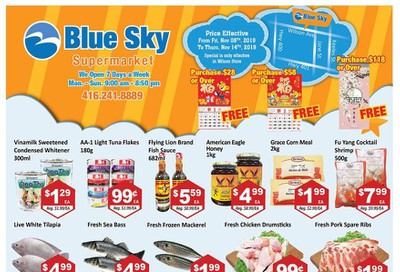 Blue Sky Supermarket (North york) Flyer November 8 to 14