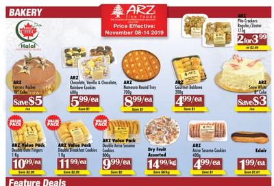 Arz Fine Foods Flyer November 8 to 14