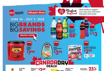 The Bargain Shop and Red Apple Stores Flyer June 24 to July 1
