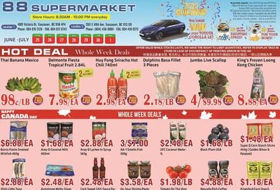 88 Supermarket Flyer June 25 to July 1