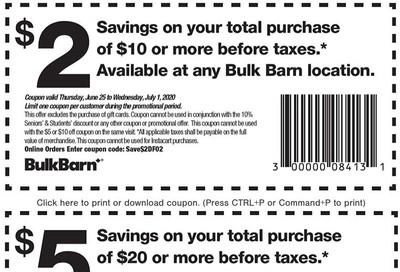 Bulk Barn Canada Coupons: Save $2 - $10: Valid until July 1