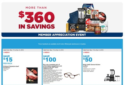 Costco (QC) Weekly Savings November 11 to 17