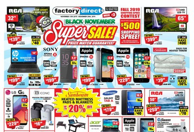 Factory Direct Flyer November 13 to 20