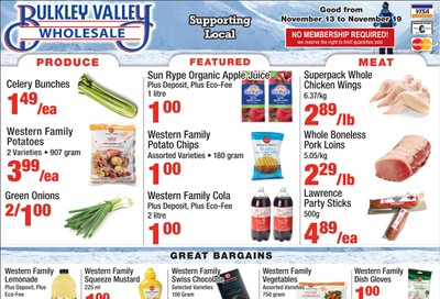 Bulkley Valley Wholesale Flyer November 13 to 19