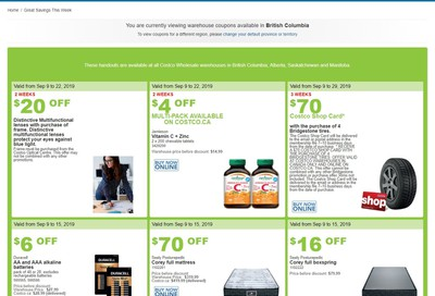 Costco (BC, AB, SK and MB) Weekly Savings September 9 to 15