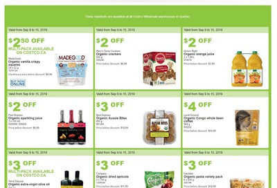 Costco (QC) Weekly Savings September 9 to 15