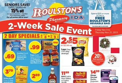 Roulston's Pharmacy Flyer November 8 to 21