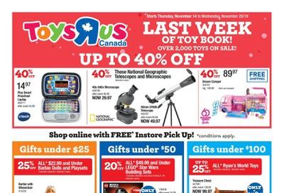 Toys R Us Flyer November 14 to 20