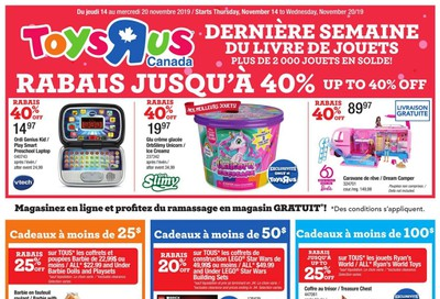 Toys R Us (QC) Flyer November 14 to 20