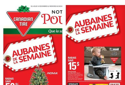 Canadian Tire (QC) Flyer November 14 to 20