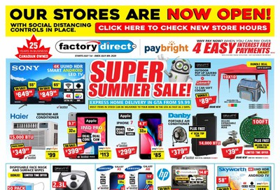 Factory Direct Flyer July 1 to 7