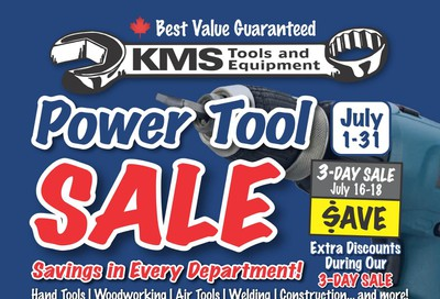 KMS Tools and Equipment Flyer July 1 to 31