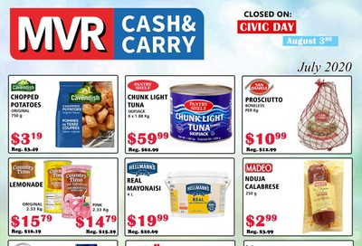 MVR Cash and Carry Flyer July 1 to 31
