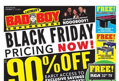 Lastman's Bad Boy Superstore Flyer November 14 to 27