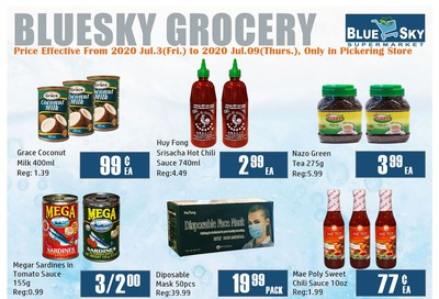 Blue Sky Supermarket (Pickering) Flyer July 3 to 9