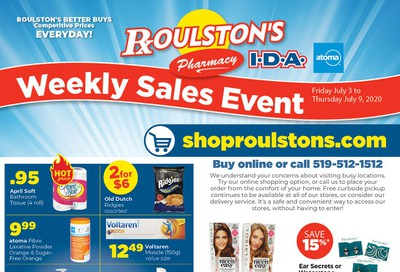 Roulston's Pharmacy Flyer July 3 to 9