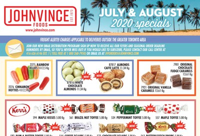 Johnvince Foods Wholesale Specials Flyer July 1 to August 31