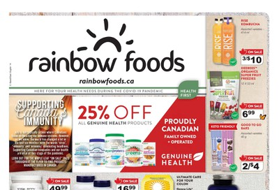 Rainbow Foods Health First Flyer July 2 to 31