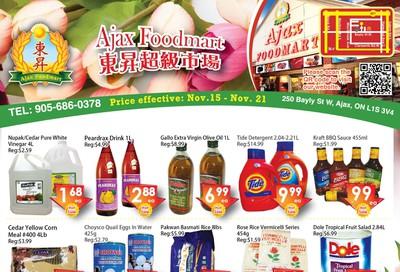 Ajax Foodmart Flyer November 15 to 21