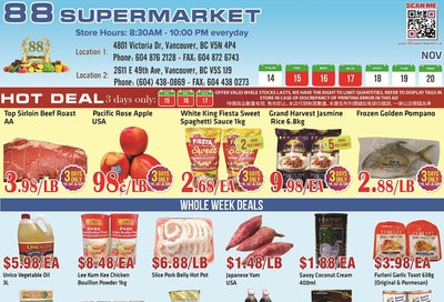 88 Supermarket Flyer November 14 to 20
