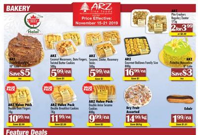 Arz Fine Foods Flyer November 15 to 21