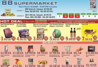 88 Supermarket Flyer July 9 to 15