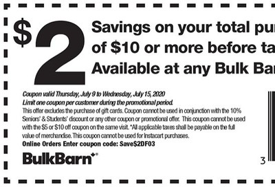 Bulk Barn Canada Coupons: Save $2 - $10, Valid until July 15
