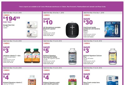 Costco (ON & Atlantic Canada) Weekly Savings November 18 to 24