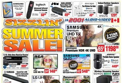 2001 Audio Video Flyer July 10 to 16