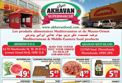 Akhavan Supermarche Flyer July 15 to 21