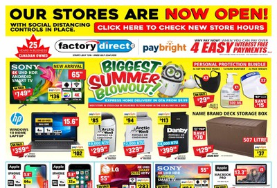 Factory Direct Flyer July 15 to 23