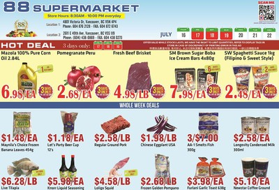 88 Supermarket Flyer July 16 to 22