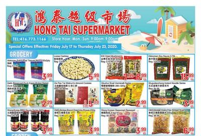 Hong Tai Supermarket Flyer July 17 to 23