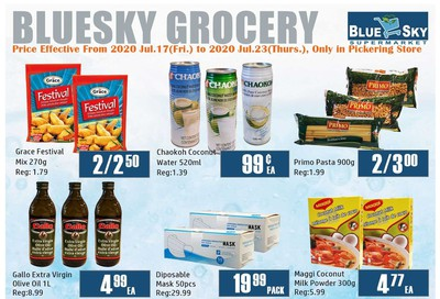 Blue Sky Supermarket (Pickering) Flyer July 17 to 23