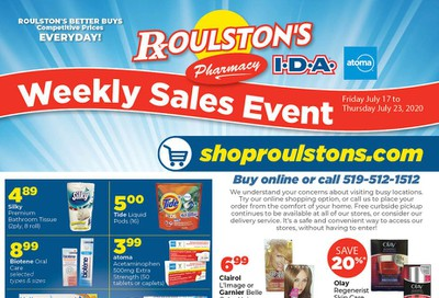 Roulston's Pharmacy Flyer July 17 to 23